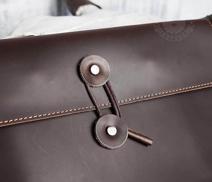 BAG416-3 Кожаная папка для документов з застежкой шнурком фото 04
