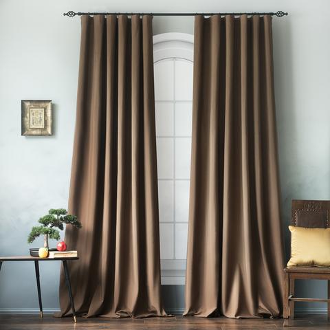 Комплект хлопковых штор Эмми коричневый