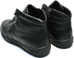 Молодежные зимние ботинки мужские кожаные Ikoc 1608-1 Sport Black.
