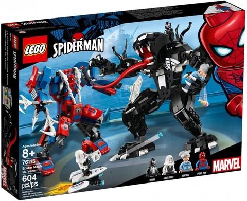 LEGO Super Heroes: Человек-паук против Венома 76115 — Spider Mech vs. Venom — Лего Супергерои Марвел