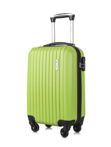 Чемодан со съемными колесами L'case Krabi-18 Зеленый ручная кладь (S)