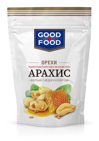 GOOD FOOD Арахис жареный с мёдом и кунжутом 130 г