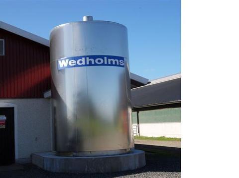 10 000 литров | Танк охлаждения молока вертикального исполнения Wedholms