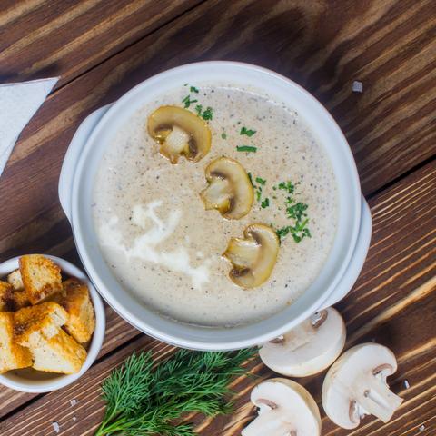 Крэм-суп з лясных грыбоў