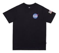 Футболка Alpha Industries NASA Black Женская (Черная)