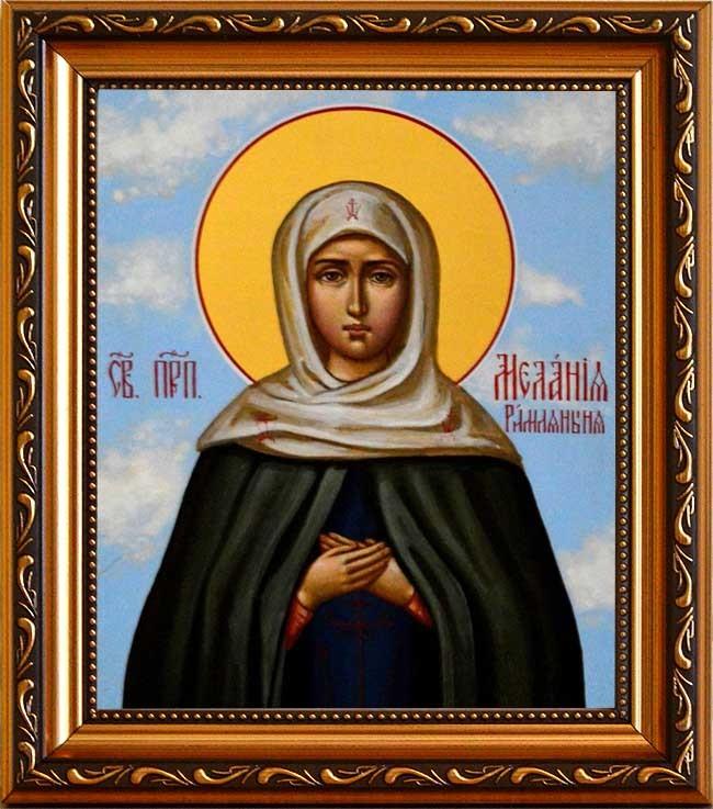 Мелания Римляныня Вифлеемская Преподобная. Икона на холсте в раме