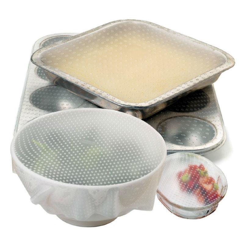 Товары для кухни Силиконовые крышки для посуды (5 шт) Силиконовые_крышки-2.jpg