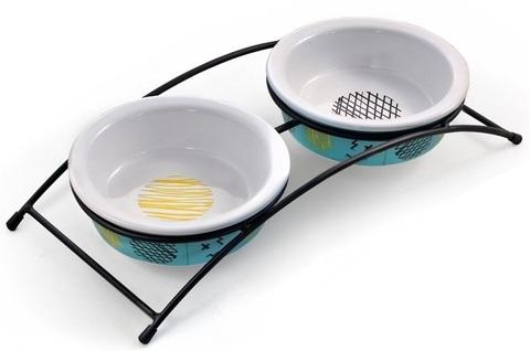 Triol миска керамическая на подставке