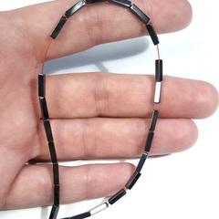 Бусины гематит прямоугольник 8х2 мм цвет черный