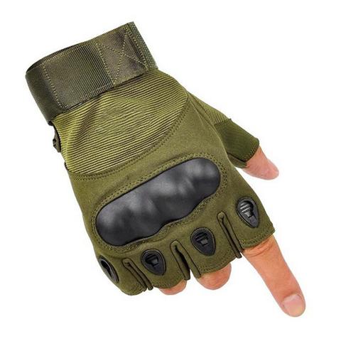 Тактические перчатки беспалые Олива
