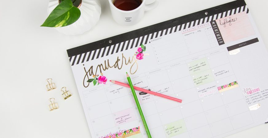 Настенный календарь Heidi Swapp Memory Planner Desktop Calendar Fresh Start- 30х45 см