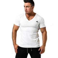 Мужская футболка AE TEE V-NECK NAVY WHITE