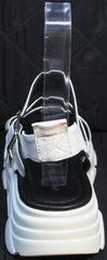 Модные женские босоножки на высокой подошве Evromoda 3078-107 Sport White