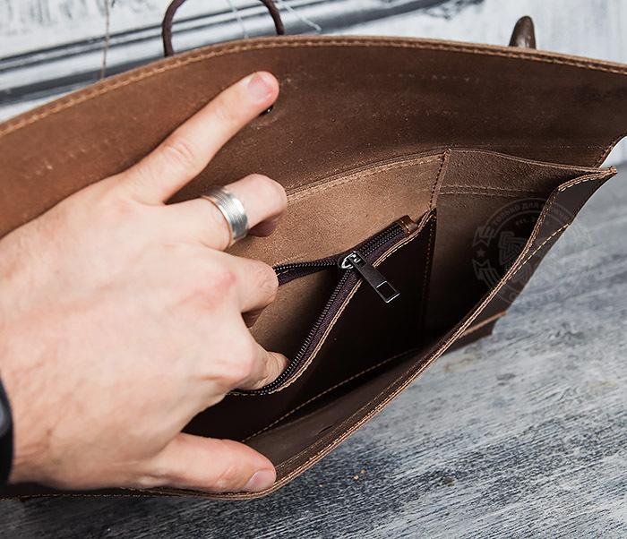 BAG416-3 Кожаная папка для документов з застежкой шнурком фото 09