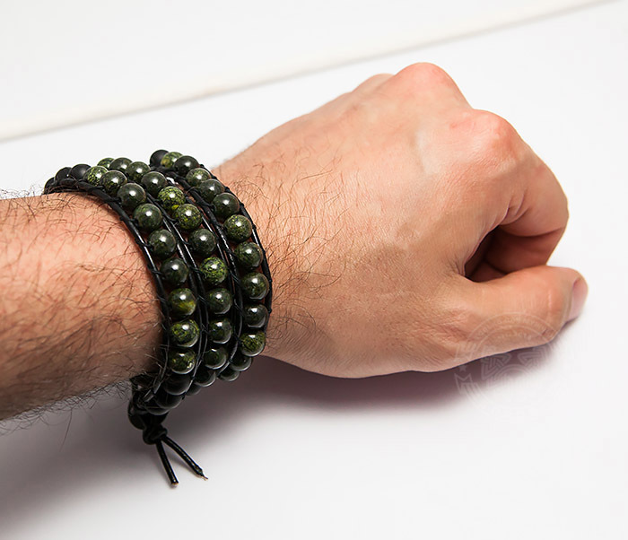 BS755 Мужской браслет Chan Luu из змеевика, ручная работа фото 07
