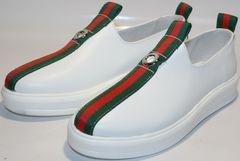 Женские кроссовки белые New Malange M970 white.