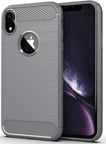 Чехол iPhone XR цвет Gray (серый), серия Carbon, Caseport