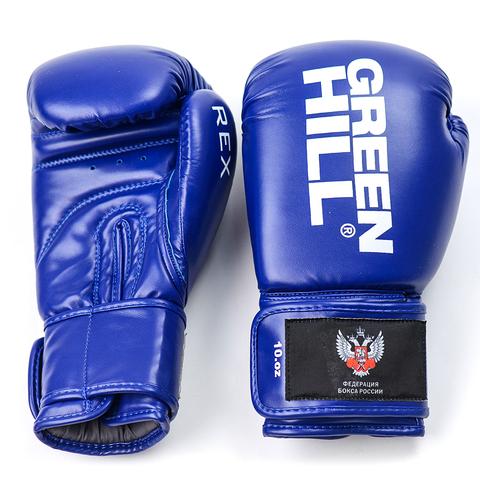 Перчатки боксерские REX BGR-2272,  Green Hill синие