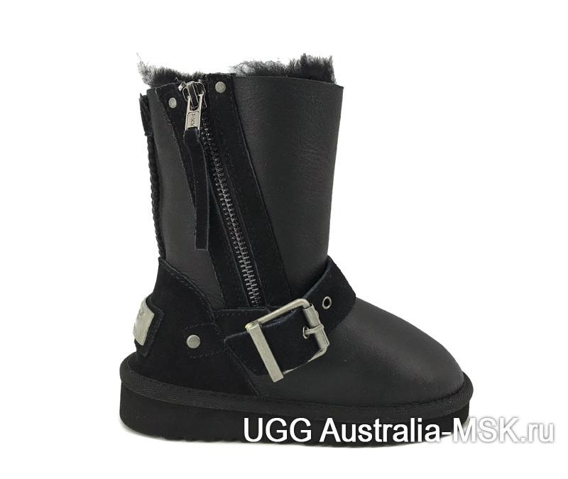 UGG Kids Classic Short Blaise Metallic Black