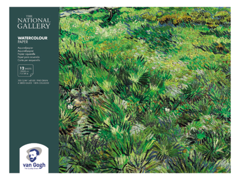 Блок для акварели Royal Talens Van Gogh National Gallery, 300 гр/м.кв, 18х24 см, 12 листов, склейка по 4 сторонам