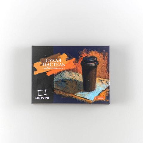 Уголь натуральный для рисования Малевичъ, диаметр 4мм, длинна 150мм, 12 шт