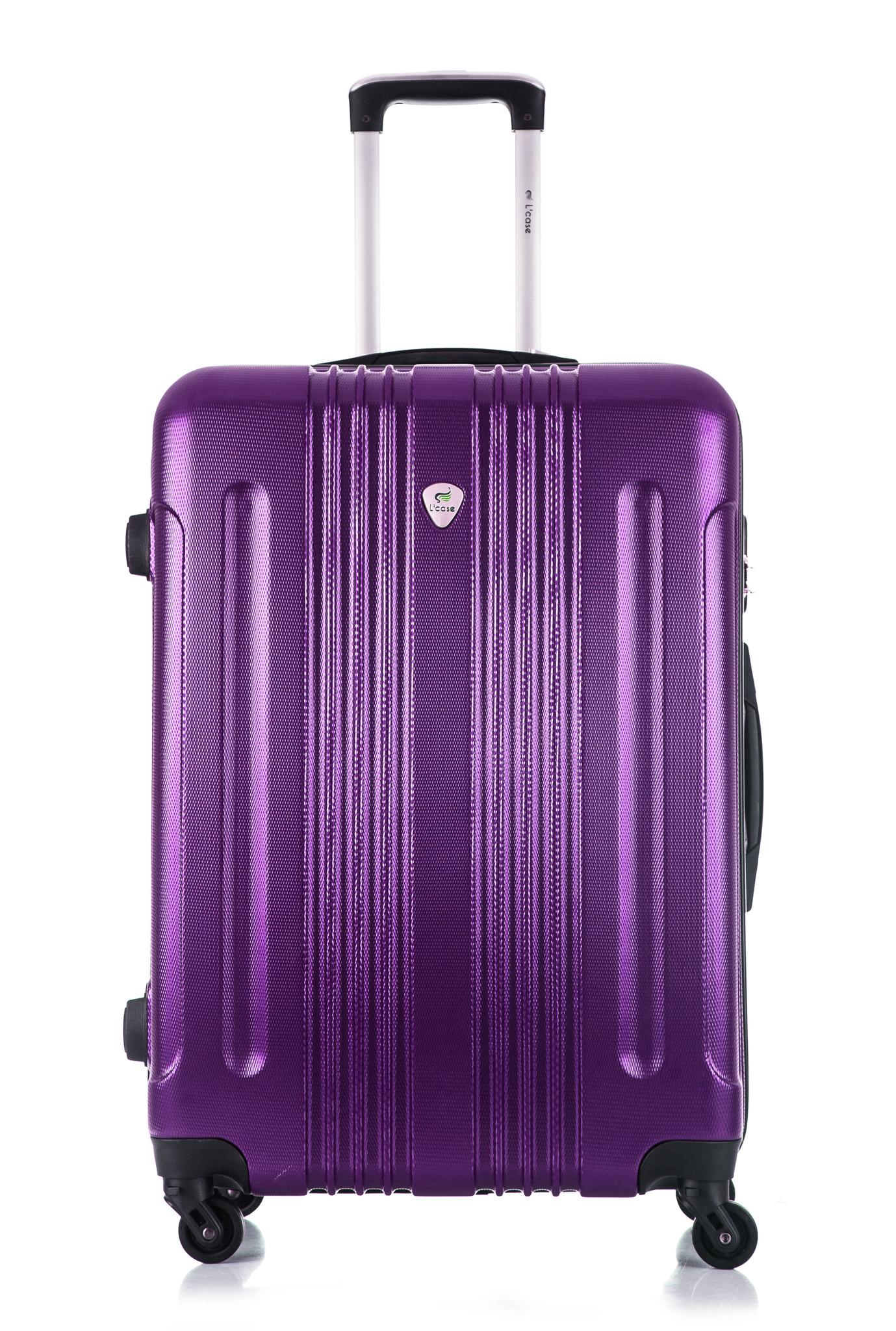 Чемодан со съемными колесами L'case Bangkok-22 Фиолетовый (M)