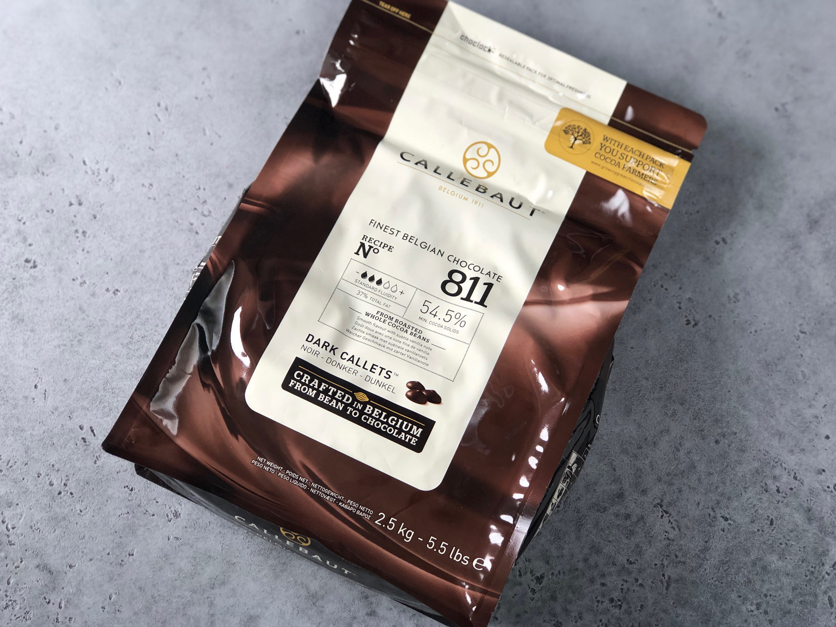Шоколад тёмный Barry Callebaut 54,5%, 2,5 кг