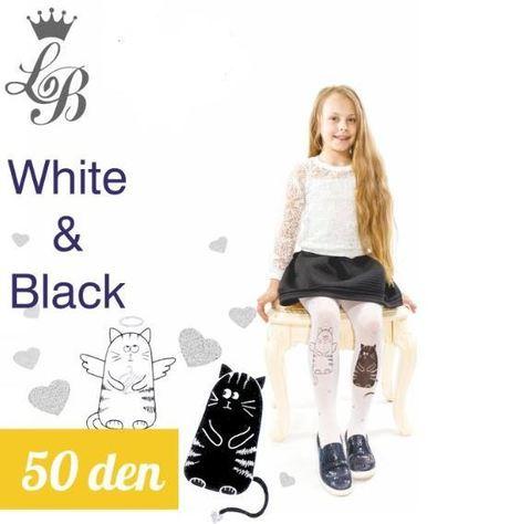 Колготки LB WHITE and BLACK (белый) 50 den