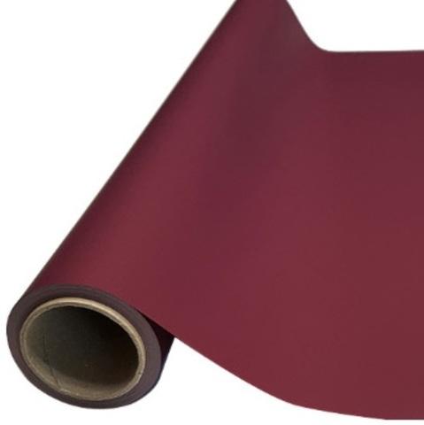 Пленка матовая (размер:65см х 10м), цвет: бордовый