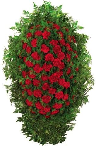 Траурный венок из живых цветов ВЖ 09