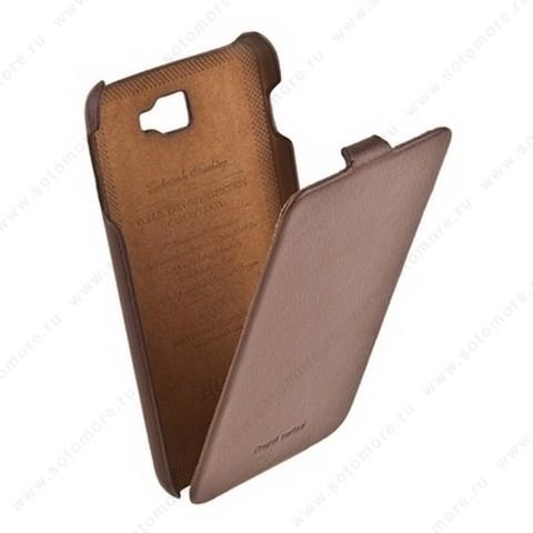 Чехол-флип HOCO для Samsung Galaxy Note N7000 - HOCO Leather Case Brown