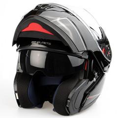 Шлем-модуляр MT Atom, чёрный глянцевый