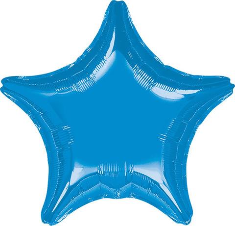 Воздушный шар Звезда (Синяя)