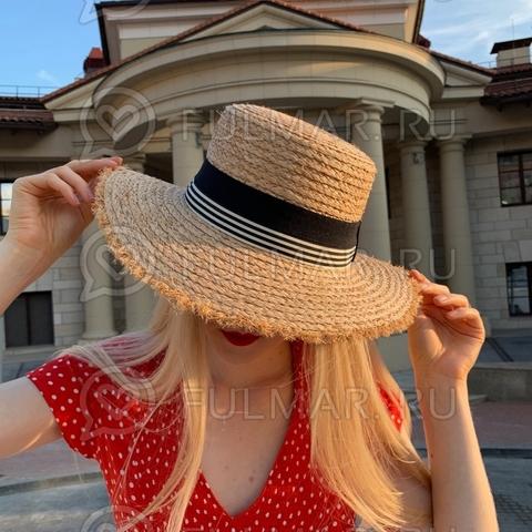 Шляпа канотье соломенная женская
