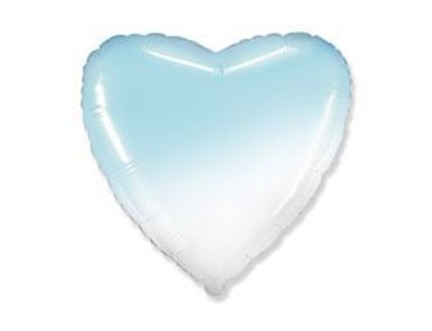 шарики сердечки градиент голубой