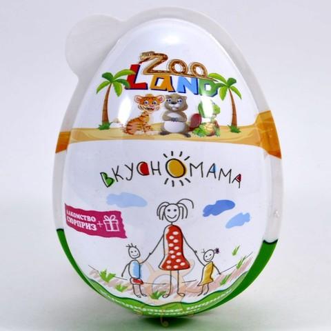 "Кукурузные шарики в глазури Яйцо ""Zoo Land"" Вкусномама, 15г"