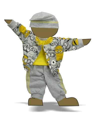 Костюм с курткой бомбером - Демонстрационный образец. Одежда для кукол, пупсов и мягких игрушек.
