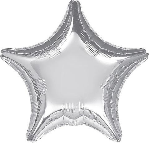 Воздушный шар Звезда (Серебрянная)