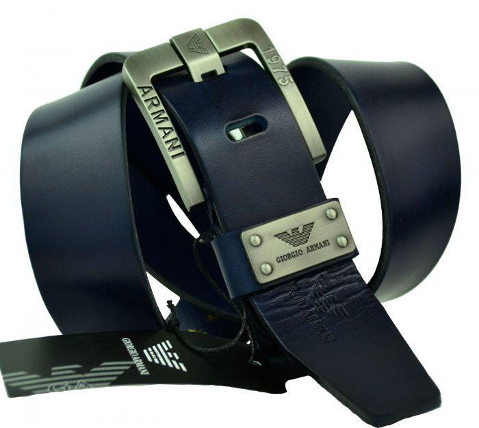 Мужской брендовый ремень Armani 30040 blue