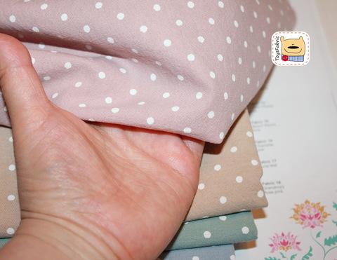 Набор тканей хлопок 51848 Горошек (45х35см/5шт.)