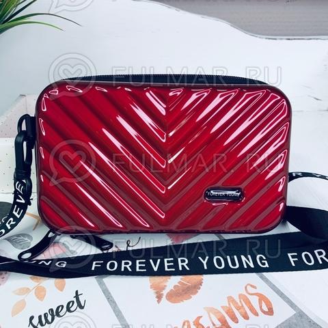 Клатч-сумка мессенджер через плечо женская маленькая Бордовый Чемоданчик