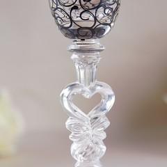 Набор свадебных бокалов «Бант», чёрно-белый, фото 2