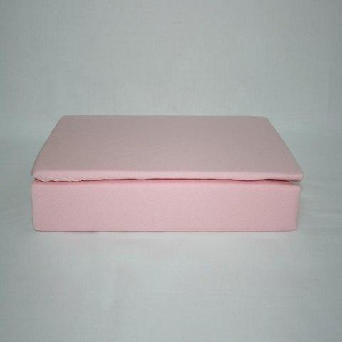 Простынь на резинке трикотажная 160x200 (розовая)
