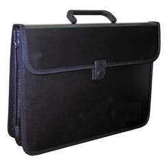 Папка-портфель Attache пластиковая А4 черная (370x275 мм, 2 отделения)