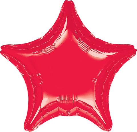 Воздушный шар Звезда (Красная)