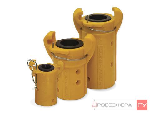 Сцепление для пескоструйных рукавов 19х33 мм CQP-3/4 пластик