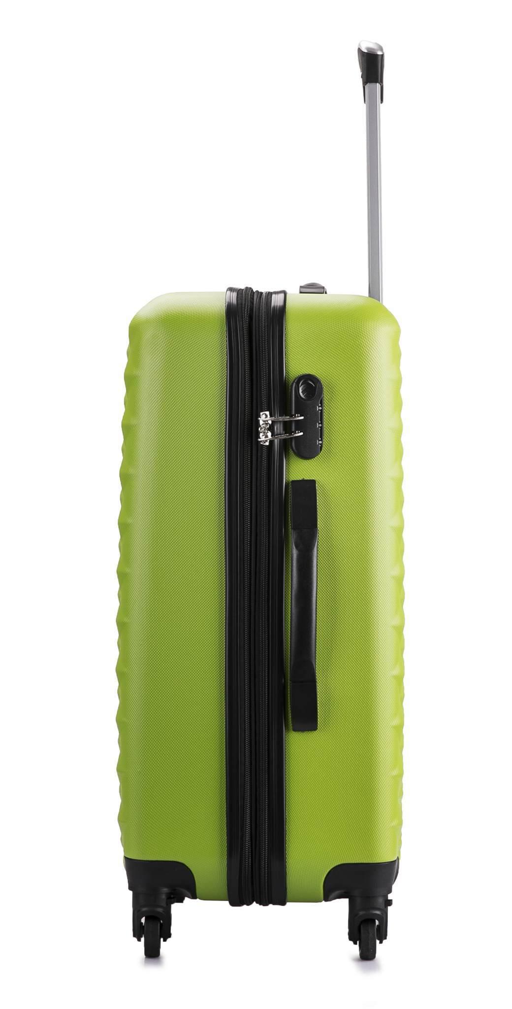 Чемодан с расширением L'case Phatthaya-20 Зеленый ручная кладь (S)