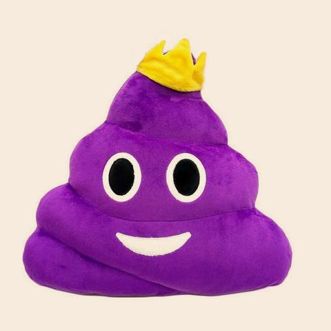 Подушка какашка фиолетовая