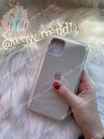 Чехол iPhone 11 Silicone Case /antique white/ молочный 1:1