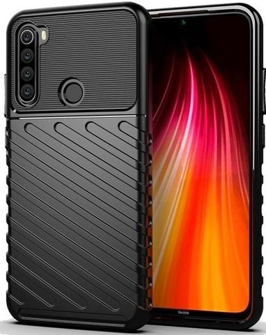 Ударопрочный чехол на Xiaomi Redmi Note 8T цвет черный, серия Onyx, Caseport